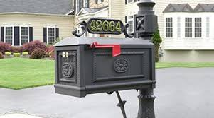 cast aluminum mailbox. Unique Aluminum Better Box Mailboxes Offering Decorative Cast Aluminum Mailbox Curbside U0026  Brick Nationwide Offering Victorian Residential Wall Mount Or  And Mailbox I