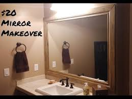 DIY 20 Mirror Makeover Framing Bathroom Mirrors YouTube