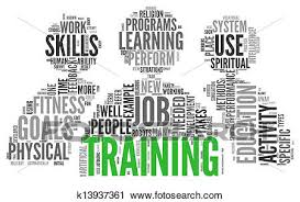 Clipart Of Training And Education Related Words Concept K13937361