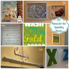 Diy Laundry Room Decor Decorating Some Diy Art For The Laundry Room The Happy Housie
