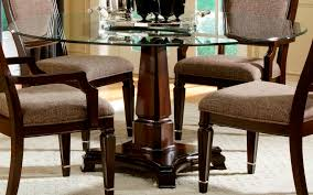 excellent black pedestal dining table with glass top insurservice throughout round pedestal glass top dining table attractive