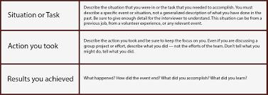 Star Interview Techniques Behavioral Interview Techniques Trilogy Financial Search