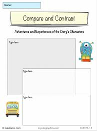 ipad common core graphic organizer compare and contrast k  ipad graphic organizer compare and contrast adventures and experiences of characters