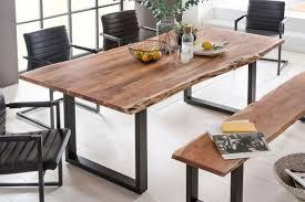 Tisch Manhattan Akazienholz Kufengestell Schwarz Von Massivdirekt