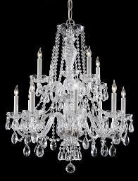 crystorama traditional crystal 12 light clear italian crystal chrome chandelier iv