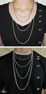 Mens Necklace Size Chart Mens Necklace Chains Length Selection