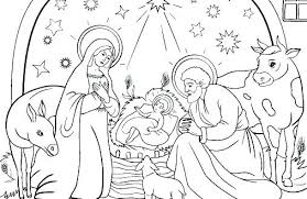 Nativity Scene Coloring Pages Gorgeous Design Ideas Free Printable