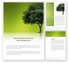 Background Templates For Word Green Tree On Light Olive Background Word Template 03109