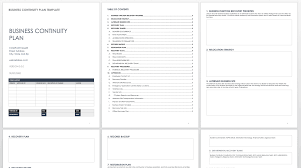 Free Business Templates Free Business Continuity Plan Templates Smartsheet