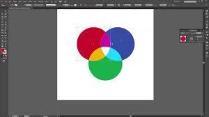 Venn Diagram In Illustrator Illustrator Blending Mode Tutorial Create Color Interactions Youtube