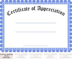 Printable Appreciation Certificates Images Of Certificate Of Appreciation Rome Fontanacountryinn Com