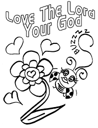 Children's Gems In My Treasure Box: Love Bug For Jesus Coloring Pages