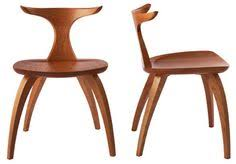 meridian cherry wood dining chair by david moser add a modernist feel to your dining room