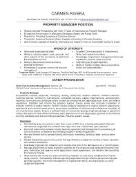 sample resume for apartment manager sample resume for property manager foodcity me