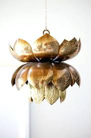 bohemian based fueled lotus pendant light white