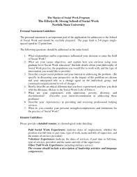 Personal Statement On Resume Awesome Sampleocial Work Personaltatement For Graduatechool Newly Qualified