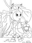 Скачать раскраски для девочек лунтик