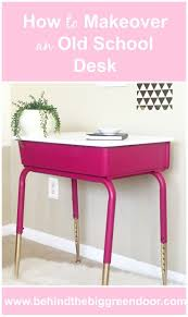 how to makeover an old school desk with spray paint diy