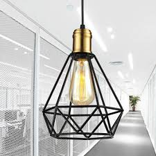 Us 1589 Wrought Iron Chandeliers Pendant Lamps Ikea Living Room Lampada Industrial Classic Home Metal Cage Led Lighting Art Decor Abajur ב Wrought