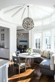 round table san francisco breakfast nook round table with contemporary decorative objects dining room transitional and