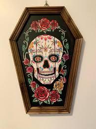 sugar skull wall art decor artwork for metal