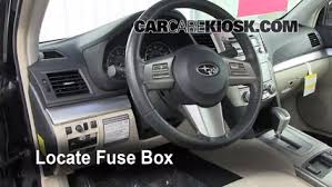 interior fuse box location 2010 2014 subaru legacy 2011 subaru locate interior fuse box and remove cover