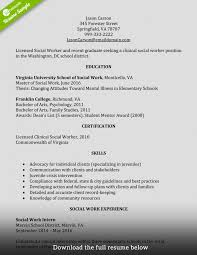 Resume Professional Social Work Resume Examples Or Experience On