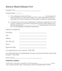 Photography Consent Release Form Template Model Image Idea