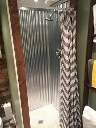 corrugated metal shower galvanized metal roofing lining the shower walls is amazing corrugated metal walk in
