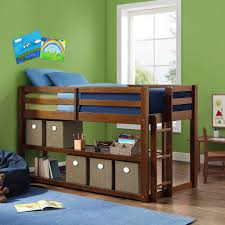 better homes and gardens greer loft storage bed with spacious storage shelves multiple finishes com