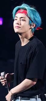 Bts V Wallpaper Mobile - V Blue Hair ...