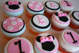 Baby Mickey Mouse Edible Cake Decorations 12 Minnie Mouse Inspired Edible Cupcake Toppers For Birthdays