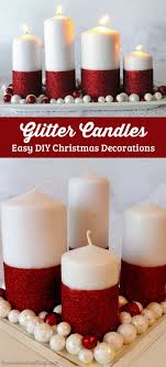 Glitter Candles - Easy DIY Christmas Decorations - Two Sisters Crafting