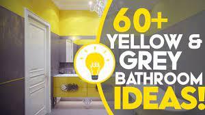 yellow and grey chevron bathroom decor