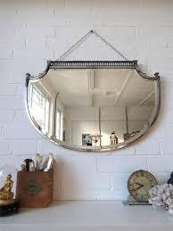 Vintage Art Deco 1930s Beveled Mirror Frameless Antique Retro With Regard  To Antique Art Deco Mirrors