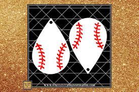 baseball earrings template teardrop earrings faux leather example image 1