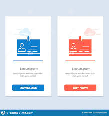 Id Card Identity Badge Blue And Red Download And Buy Now