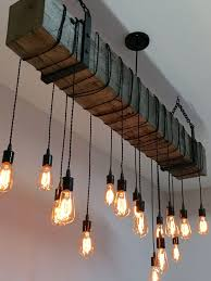 Industrial home lighting Exterior Light Fixture With Railroad Tie And Edison Lights Homebnc 36 Best Industrial Home Decor Ideas And Designs For 2019
