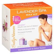 sally hansen spa body wax hair removal kit lavender1 oz