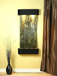 indoor water feature wall diy mounted hanging features supply cascade springs with green slate and blackened