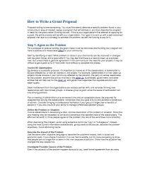 40 Grant Proposal Templates Nsf Non Profit Research