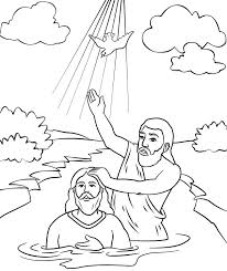 Small Picture Jesus Baptism Coloring Page Print Jesus Baptism Coloring Page With