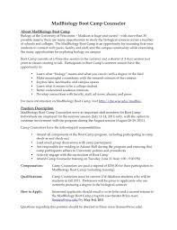 Camp Counselor Resume Inspirational Resume Examples For Youth