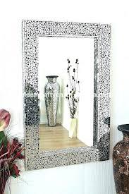 mercury glass mirror wall ll decor mosaic crushed frame decorative framed mirrored nightstand