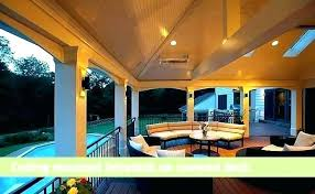 ceiling patio heater mount gas mounted heating ideas outdoor for covered porch shock radiant infrared deck and green