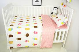 baby crib bedding set cotton duvet cover linens flat sheet pillowcase kit sabanas cuna ins children s bed linen sets no filler queen comforter sets nursery