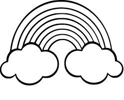 Coloriage Arc En Ciel Imprimer Dessin De Arc En CiellL