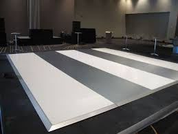 white silver dance floor houston with events company