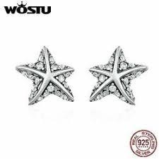 FidgetGear Wostu <b>Romantic</b> Starfish <b>S925 Sterling Silver</b> Ear Stud ...