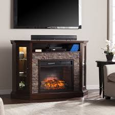 harper blvd ratner faux stone corner convertible infrared electric a fireplace
